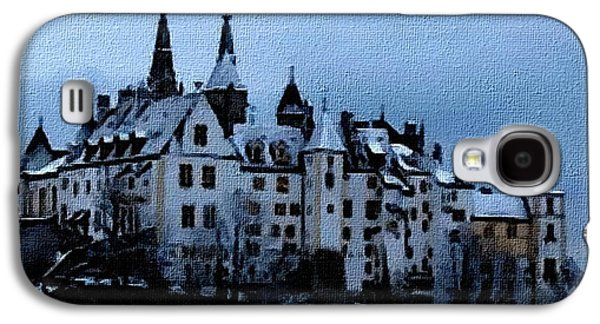 Abstract Digital Pastels Galaxy S4 Cases - Winter Castle - no. 2 H A Galaxy S4 Case by Gert J Rheeders