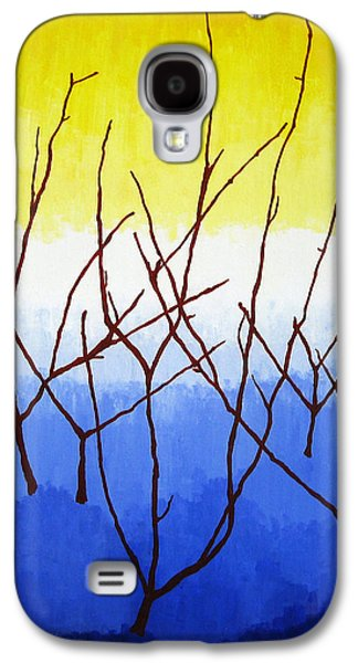 Alluring Paintings Galaxy S4 Cases - Winter Dogwood Galaxy S4 Case by Oliver Johnston