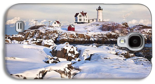 Winter Evening At Nubble Lighthouse Galaxy S4 Case by Eric Gendron