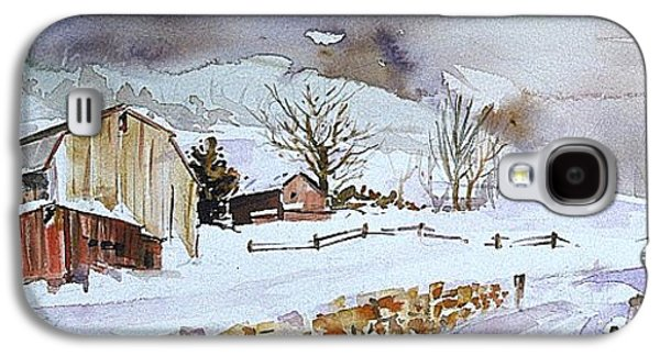 Winter Farm Country Galaxy S4 Case by P Anthony Visco