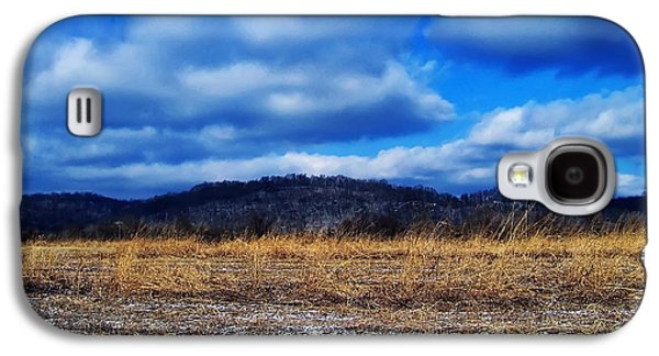 Landscape Posters Galaxy S4 Cases - Winter Field Galaxy S4 Case by Chris Flees