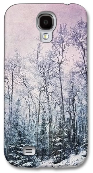 Textured Digital Art Galaxy S4 Cases - Winter Forest Galaxy S4 Case by Priska Wettstein