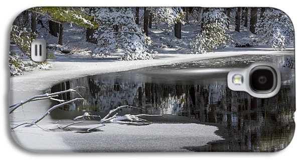 Trees Reflecting In Water Galaxy S4 Cases - Winter Fresh Galaxy S4 Case by Karol  Livote