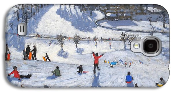 Winter Landscapes Galaxy S4 Cases - Winter Fun Galaxy S4 Case by Andrew Macara