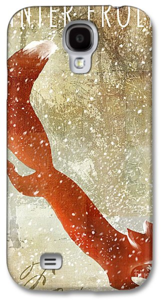 Winter Game Fox Galaxy S4 Case by Mindy Sommers