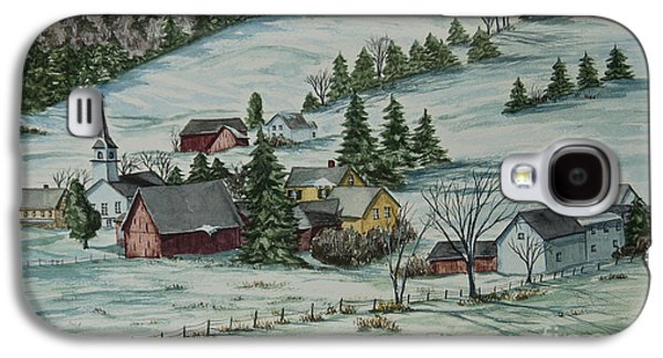 Chatham Paintings Galaxy S4 Cases - Winter In East Chatham Vermont Galaxy S4 Case by Charlotte Blanchard