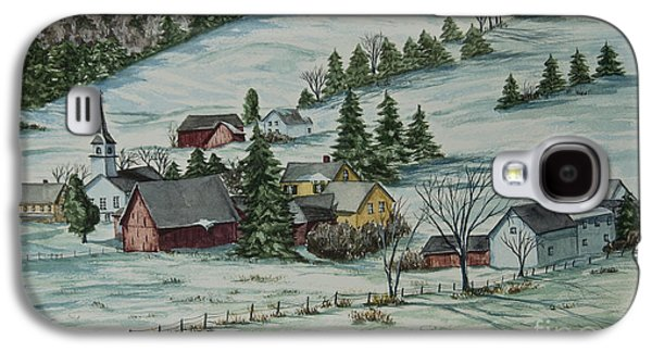 New England Village Galaxy S4 Cases - Winter In East Chatham Vermont Galaxy S4 Case by Charlotte Blanchard