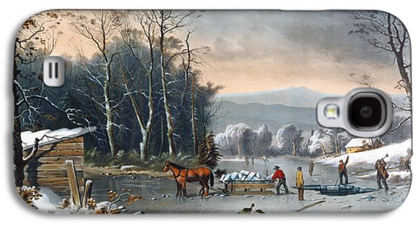 Winter In The Country Galaxy S4 Case by Currier and Ives