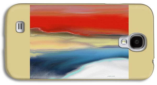 Abstract Digital Paintings Galaxy S4 Cases - Winter Landscape with Sunset Galaxy S4 Case by Lenore Senior