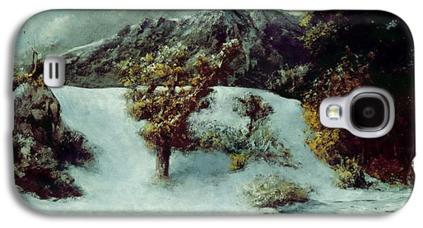 Winter Landscape With The Dents Du Midi Galaxy S4 Case by Gustave Courbet