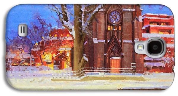Rooftop Galaxy S4 Cases - Winter Lorreto chapel Galaxy S4 Case by Gary Kim