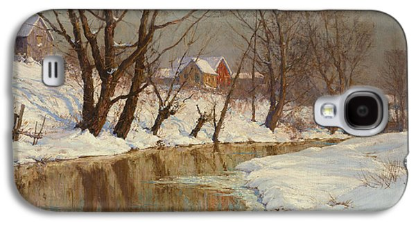 19th Century America Galaxy S4 Cases - Winter Morning Galaxy S4 Case by Walter Launt Palmer