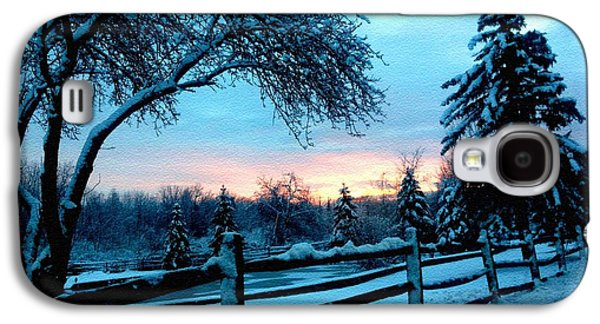 Abstract Digital Pastels Galaxy S4 Cases - Winter Scene on the road to Moscow H b Galaxy S4 Case by Gert J Rheeders