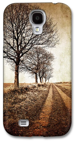 Cold Galaxy S4 Cases - Winter Track With Trees Galaxy S4 Case by Meirion Matthias