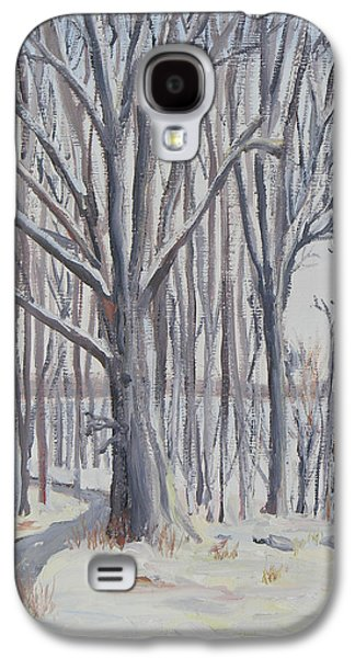 Nature Center Paintings Galaxy S4 Cases - Winter Walk Galaxy S4 Case by Robert P Hedden