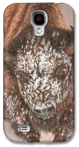 Bison Pastels Galaxy S4 Cases - Winters Face Galaxy S4 Case by Marilyn Meyer