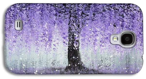 Botanical Galaxy S4 Cases - Wisteria Dream Galaxy S4 Case by Kume Bryant
