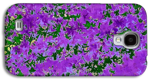 Digital Tapestries - Textiles Galaxy S4 Cases - Wisteria Dreams Galaxy S4 Case by Suzi Freeman