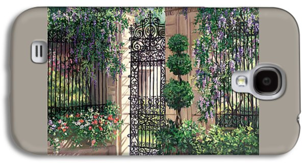 Wisteria Gate Galaxy S4 Case by Laurie Hein
