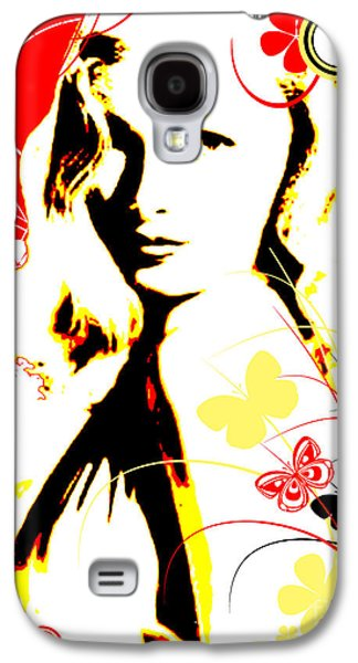 Abstract Digital Mixed Media Galaxy S4 Cases - Wistful Flutter Galaxy S4 Case by Chris Andruskiewicz
