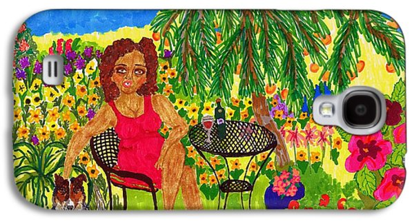 Recently Sold -  - African-american Galaxy S4 Cases - With Rudy in the Garden Galaxy S4 Case by Stacey Torres