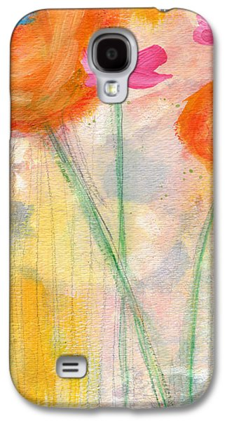With The Breeze- Art By Linda Woods Galaxy S4 Case by Linda Woods
