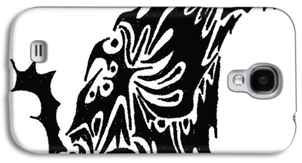 Abstract Digital Drawings Galaxy S4 Cases - Wolf Galaxy S4 Case by AR Teeter