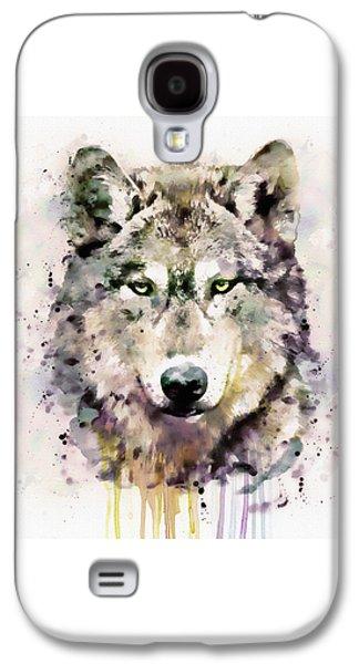 Wolf Head Galaxy S4 Case by Marian Voicu