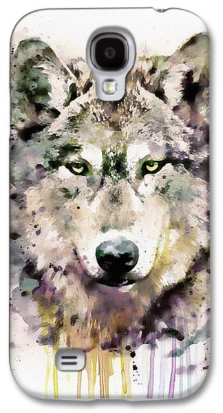 Square Format Digital Galaxy S4 Cases - Wolf Head Galaxy S4 Case by Marian Voicu