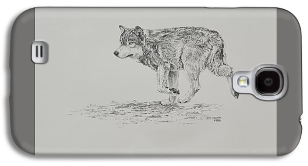Drawing Galaxy S4 Cases - Wolf Galaxy S4 Case by Jim Young