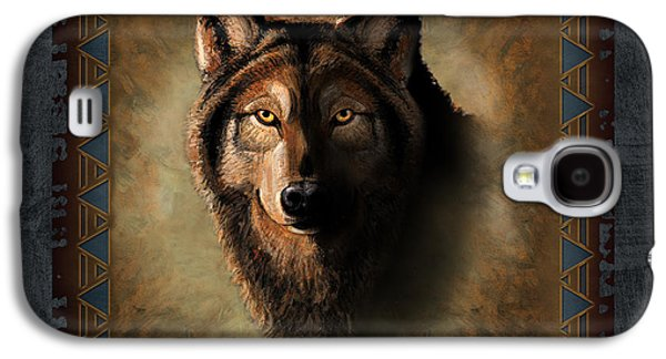 Cabin Paintings Galaxy S4 Cases - Wolf Lodge Galaxy S4 Case by JQ Licensing