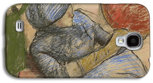 Woman Holding A Hat In Her Hand Galaxy S4 Case by Edgar Degas