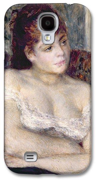 Woman In An Armchair Galaxy S4 Case by Pierre Auguste Renoir