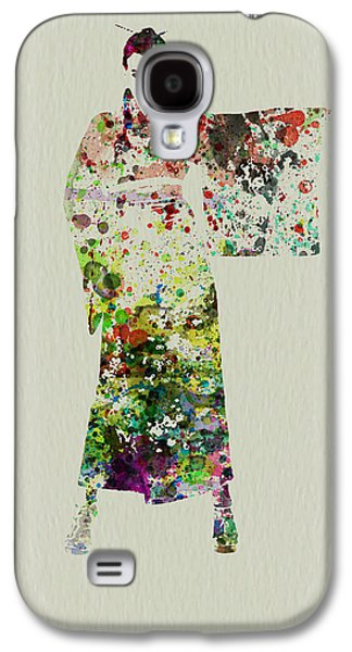 Singing Paintings Galaxy S4 Cases - Woman in Kimono Galaxy S4 Case by Naxart Studio