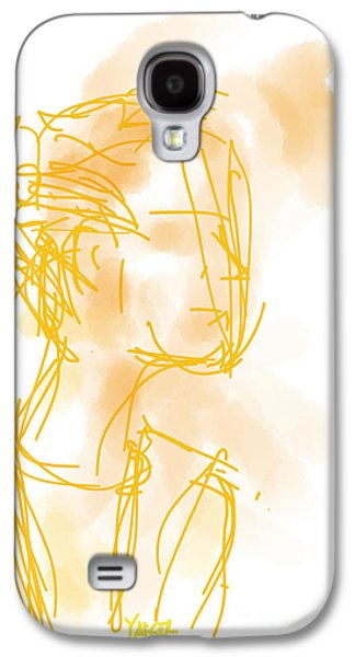 Loose Style Photographs Galaxy S4 Cases - Woman in Orange Galaxy S4 Case by Robert Yaeger