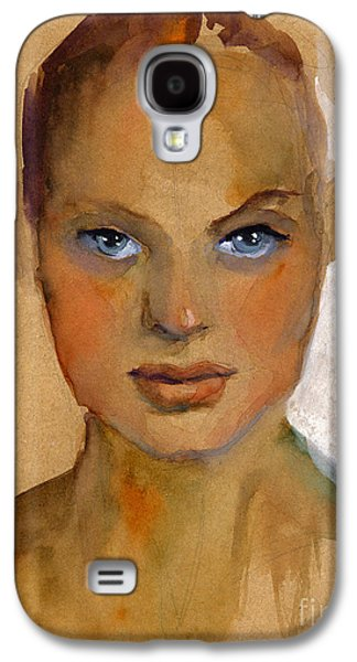 Austin Drawings Galaxy S4 Cases - Woman portrait sketch Galaxy S4 Case by Svetlana Novikova