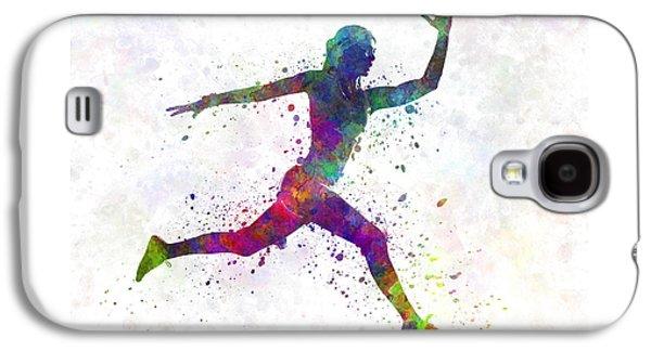 Woman Runner Running Jumping Galaxy S4 Case by Pablo Romero