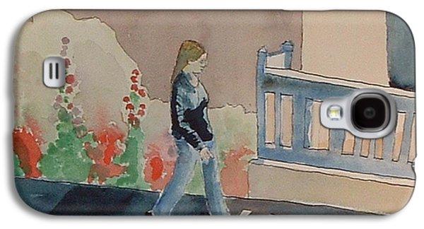 Animation Galaxy S4 Cases - Woman Walking Down Nusbaum Street Galaxy S4 Case by Paul Thompson