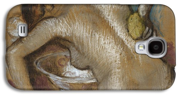 Nudes Pastels Galaxy S4 Cases - Woman Washing Her Back with a Sponge Galaxy S4 Case by Edgar Degas
