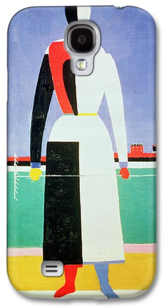Woman With A Rake Galaxy S4 Case by Kazimir Severinovich Malevich