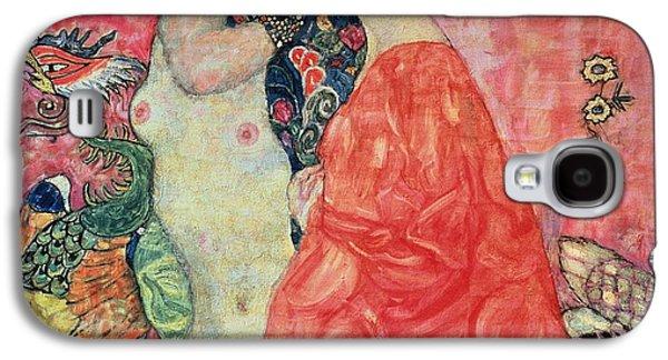 Lesbian Paintings Galaxy S4 Cases - Women Friends Galaxy S4 Case by Gustav Klimt