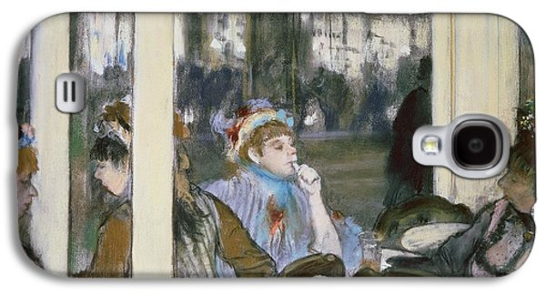 Chair Pastels Galaxy S4 Cases - Women on a Cafe Terrace Galaxy S4 Case by Edgar Degas