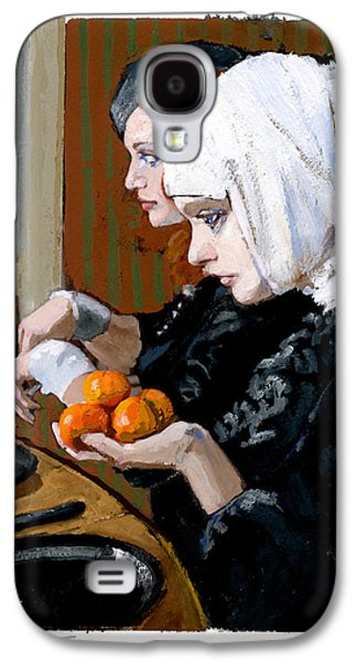 Women With Tangerines Galaxy S4 Case by H James Hoff