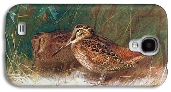Woodcock In The Undergrowth Galaxy S4 Case by Archibald Thorburn