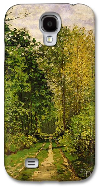 Wooded Path Galaxy S4 Case by Claude Monet