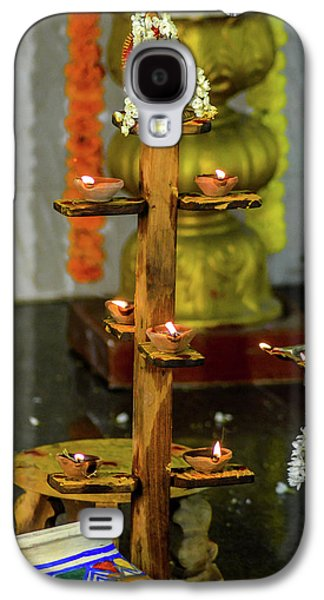 Wooden Candle Stand Galaxy S4 Case by Srinivas Rao