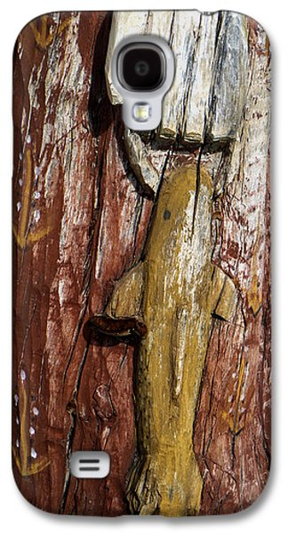 Religious Galaxy S4 Cases - Wooden Carving in Santa Fe 5 Galaxy S4 Case by Tamara Kulish