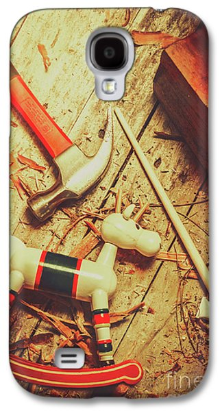 Wooden Model Toy Reindeer. Christmas Craft Galaxy S4 Case by Jorgo Photography - Wall Art Gallery