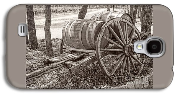 Wooden Wine Barrels On Cart Galaxy S4 Case by Imagery by Charly