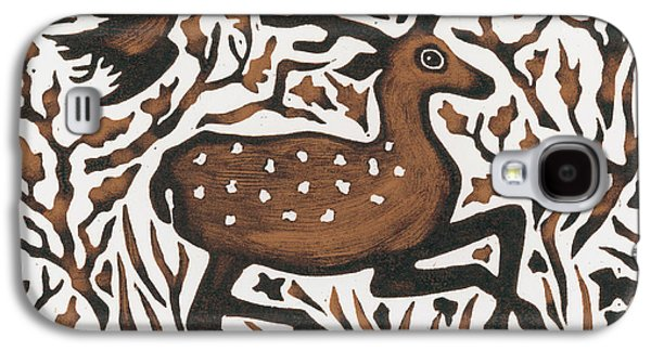 Woodland Deer Galaxy S4 Case by Nat Morley
